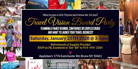 Travel Vision Board Party tickets