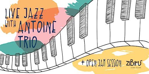 Live Jazz Fridays with Antoine Trio + open jam/mic session