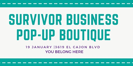 Survivor Owned Business Pop-Up Boutique tickets