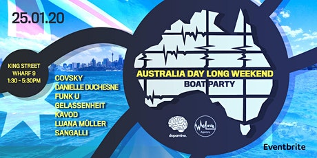 Dopamine & WeLove Agency pres. Australia Day Long Weekend Boat Party tickets