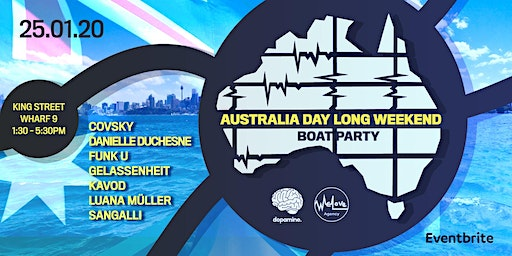 Dopamine & WeLove Agency pres. Australia Day Long Weekend Boat Party