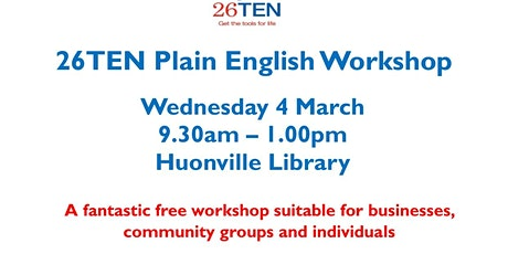 26TEN Plain English Workshop tickets