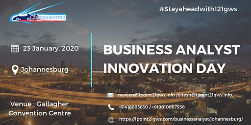 Business Analyst Innovation Day January 23, 2020  Johannesburg