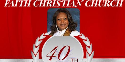 Faith Christian Church 40th Anniversary Banquet