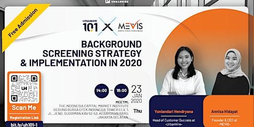 [FREE HR EVENT] Urbanhire 101 x MEVIS