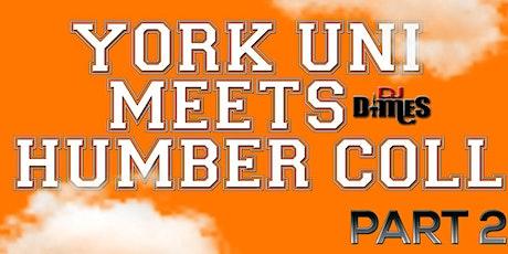 YORK UNIVERSITY MEETS HUMBER COLLEGE II tickets