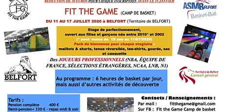 Fit The Game Camp de Basket à Belfort 2020 billets