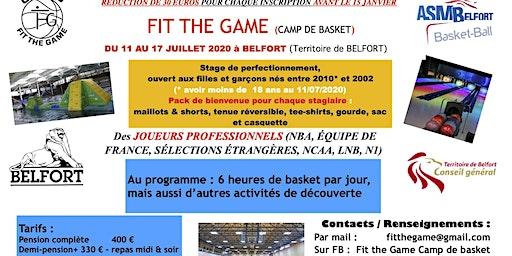Fit The Game Camp de Basket à Belfort 2020