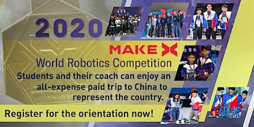 MakeX World Robotics Competition Orientation - Free