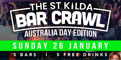 Australia Day Bar Crawl - St Kilda