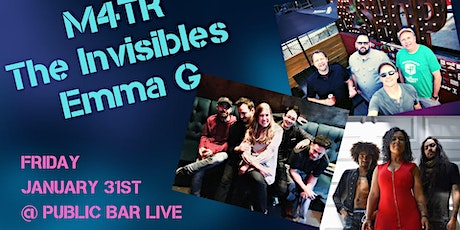 The Invisibles, M4TR and Emma G at Public Bar Live tickets