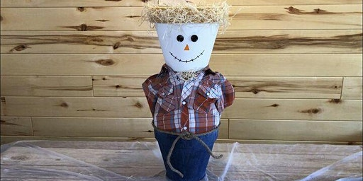 Crafter's Club - Scarecrow Clay Pot Planter