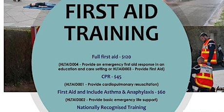 First Aid Training tickets