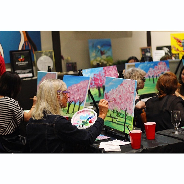 Chill & Paint Friday Night  Auck City Hotel  - Daisies & Butterfly! image