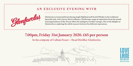 An exclusive evening with Glenfarclas tickets