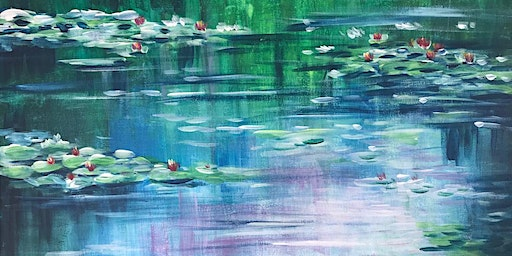 Chill & Paint Night  Auck City Hotel  - Water Lily - Monet Inspired