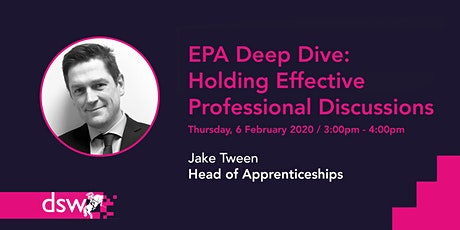 DSW Webinar - EPA Deep Dive: Holding Effective Professional Discussions tickets