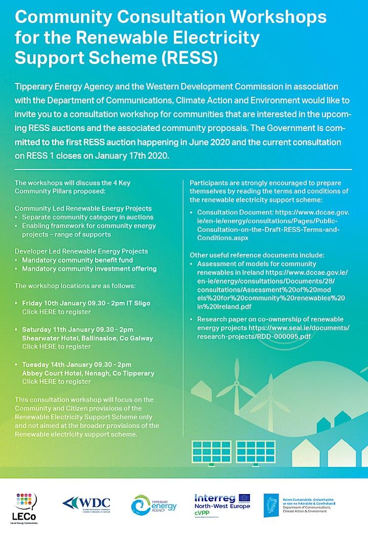 Community Consultation Workshop for Renewable Electricity Support Scheme image