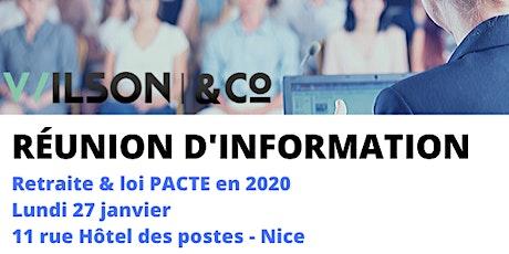 Réunion d'information PACTE billets