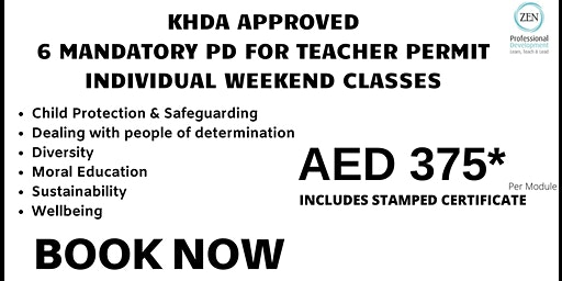 Teacher Permit : 6 Mandatory Courses