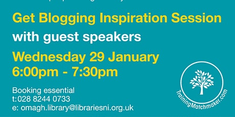 Blogging Inspiration Session at Omagh Library - New Year New You tickets