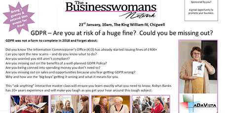 The BWN Chigwell: GDPR masterclass tickets