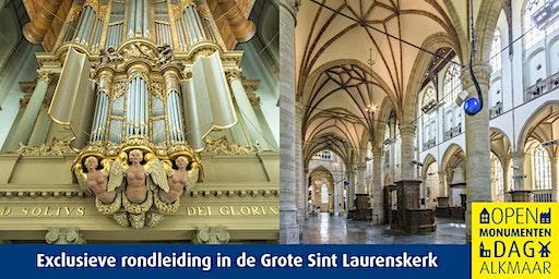 Exclusieve rondleiding in Grote Sint Laurenskerk op 28 januari