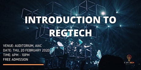 Introduction to Regtech tickets