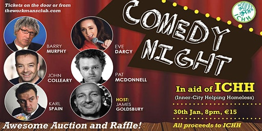 Stand-up comedy night in aid of ICHH(Inner City Helping Homeless)