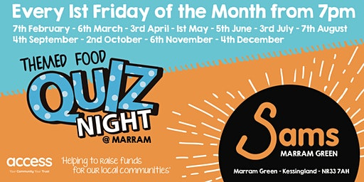 Sams Marram Green | Dinner and Quiz Night (Feb)