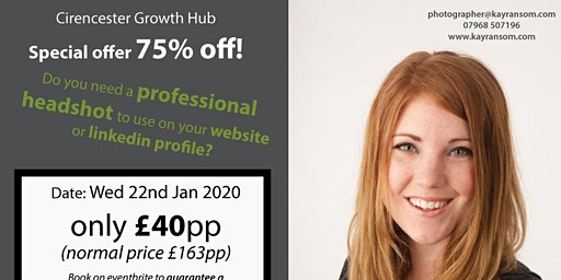 Kay Ransom Photography offering 75% off a professional headshot