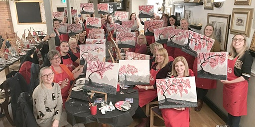 Cherry Blossom Brush Party - Yate