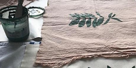 Silkscreen printing onto fabric - a beginners guide tickets