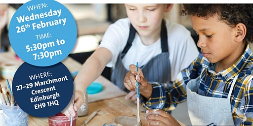 Meet others impacted by a childhood or teenage brain tumour at Doodles Ceramics workshop in Edinburgh