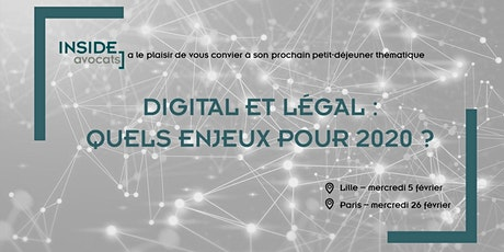 Digital et Legal : Quels enjeux pour 2020 ? (Paris) billets