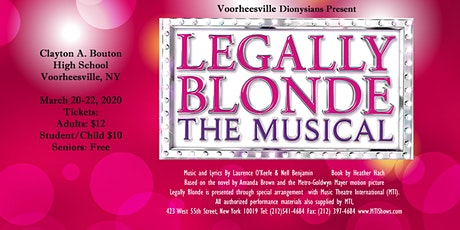 The Voorheesville Dionysians Present Legally Blonde, The Musical tickets