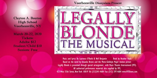 The Voorheesville Dionysians Present Legally Blonde, The Musical