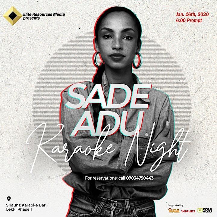 Sade Adu Karaoke Night image