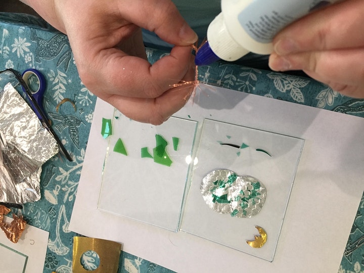 Beginners class in fused glass making image