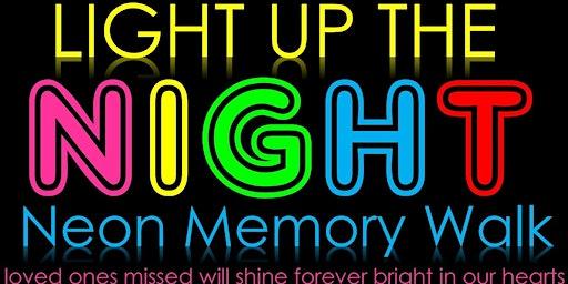 Light Up the Night, Neon Memory Walk 2020