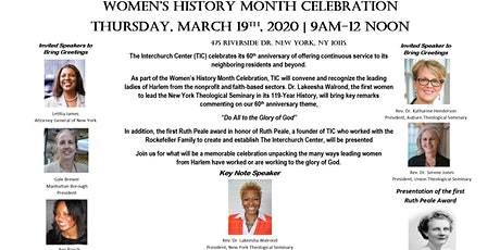 The Interchurch Center Presents: Women's History Month Celebration tickets