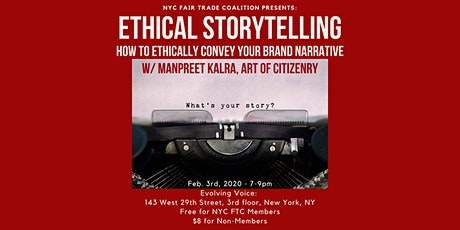 Ethical Storytelling w/ Manpreet Kalra tickets