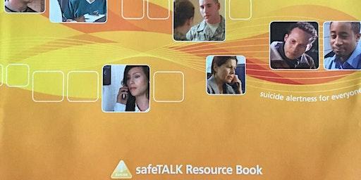 Funded suicide alertness workshop (safeTALK) 12th February AM (value £35)