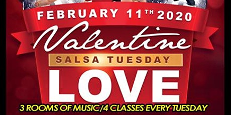 Valentine Salsa Tuesday Love – 3RMS, 4CLASSES & More tickets