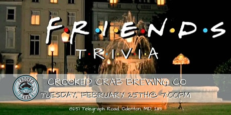 Friends Trivia at Crooked Crab tickets