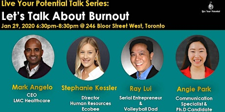 Live Your Potential Talk Series: Let's Talk About Burnout tickets