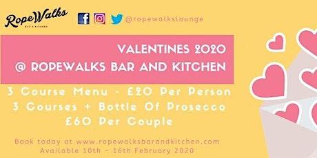Valentine's 3 Course Menu 2020 tickets