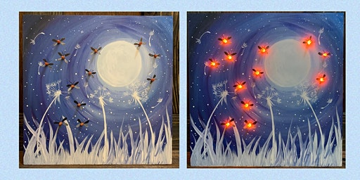 Wooden Light Up Sign Paint Night-Paint and Sip at The Alibi Room