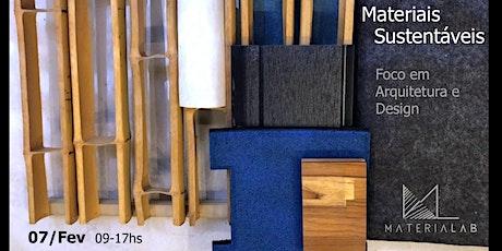 Materiais Sustentáveis - Arquitetura e Design ingressos