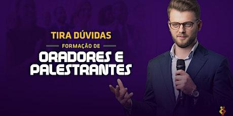 [BRASÍLIA/DF] Tira Dúvidas Formação Oradores e Palestrantes 23/01/2020 ingressos